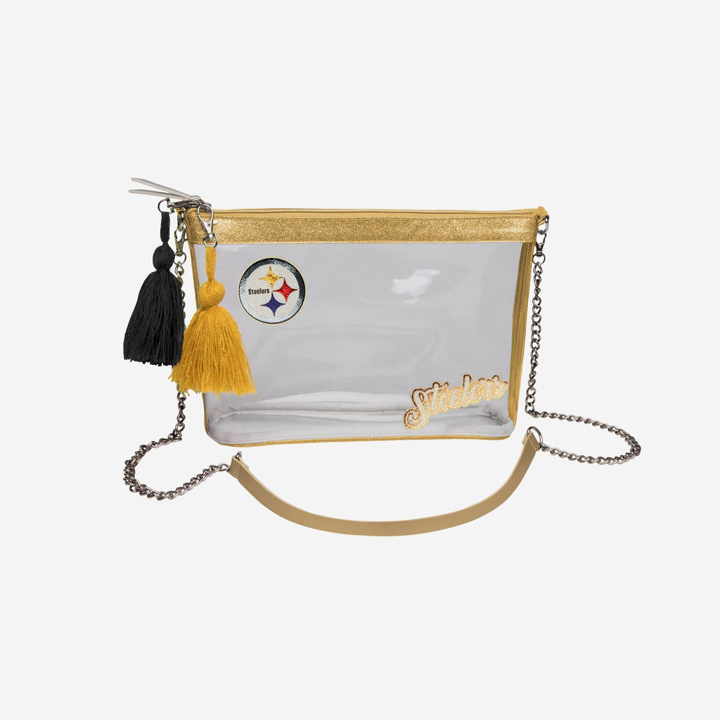 Pittsburgh Steelers Sequin Clear Purse FOCO - FOCO.com