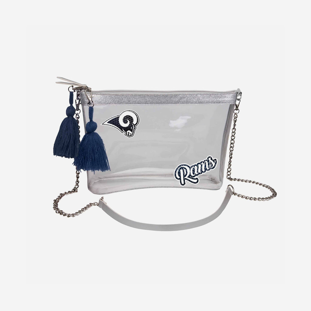Los Angeles Rams Sequin Clear Purse FOCO - FOCO.com