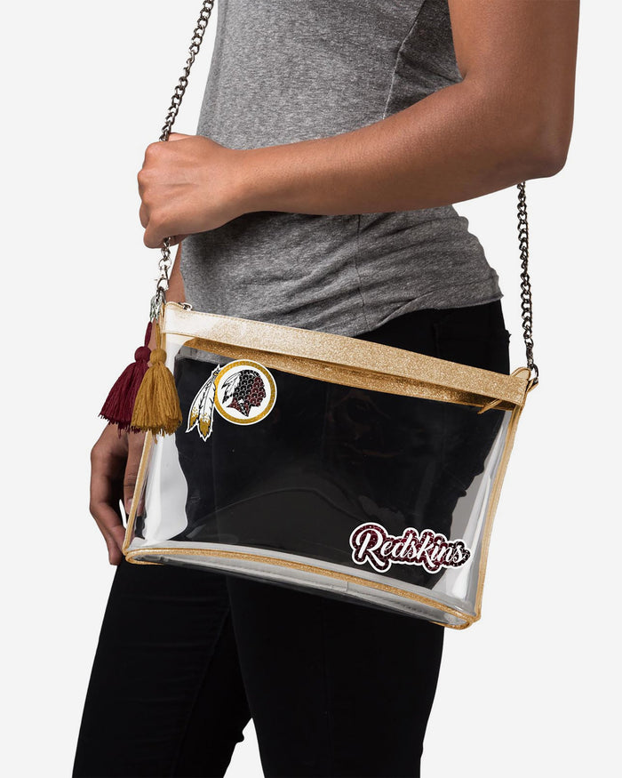 Washington Redskins Sequin Clear Purse FOCO - FOCO.com