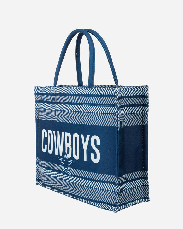 Dallas Cowboys Stitch Pattern Canvas Tote Bag FOCO - FOCO.com