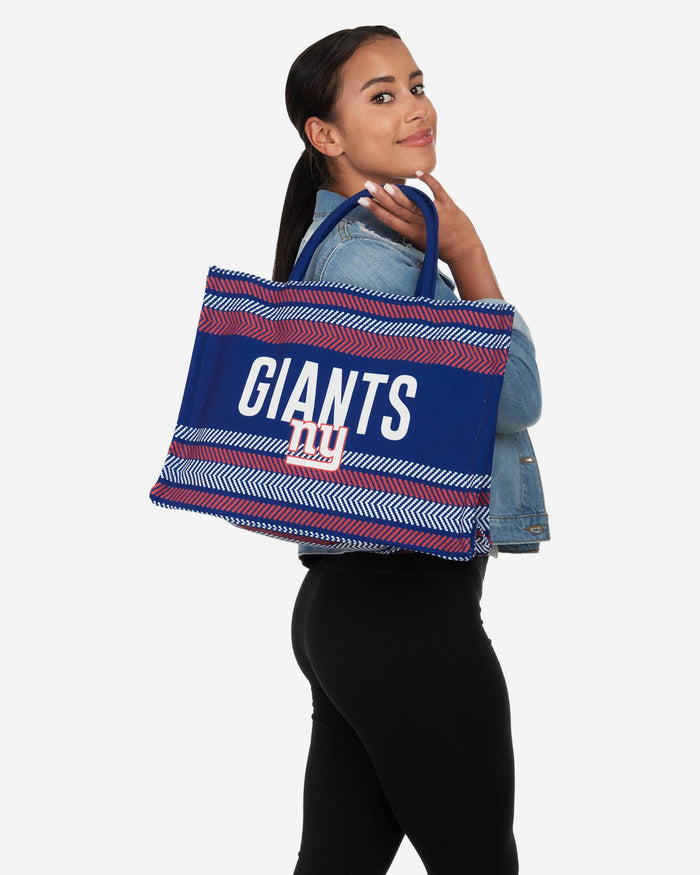 New York Giants Stitch Pattern Canvas Tote Bag FOCO - FOCO.com