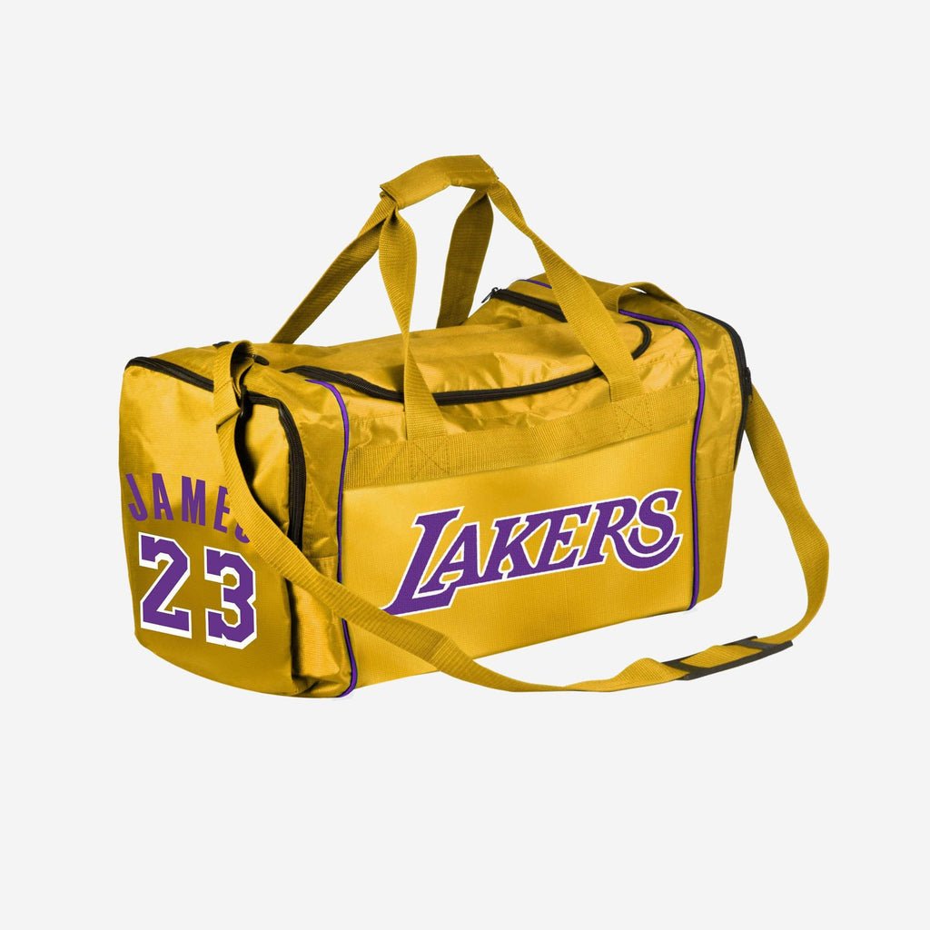 LeBron James Los Angeles Lakers Core Duffle Bag FOCO - FOCO.com