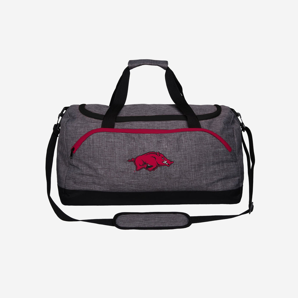 Arkansas Razorbacks Heather Grey Bold Color Duffle Bag