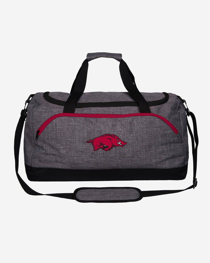 Arkansas Razorbacks Heather Grey Bold Color Duffle Bag FOCO - FOCO.com