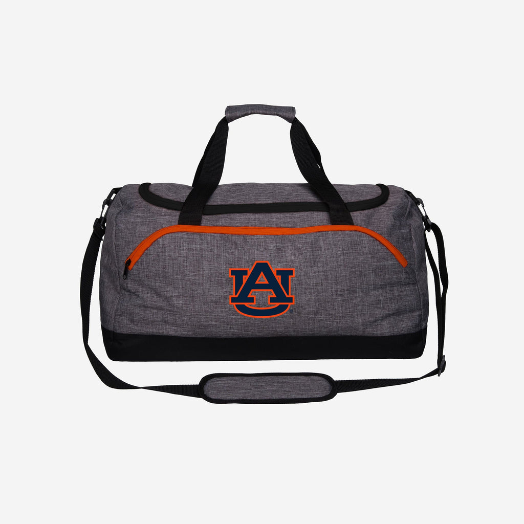Auburn Tigers Heather Grey Bold Color Duffle Bag