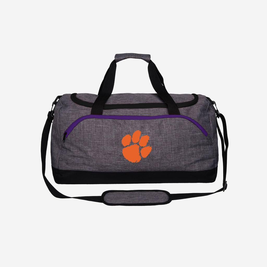Clemson Tigers Heather Grey Bold Color Duffle Bag FOCO - FOCO.com