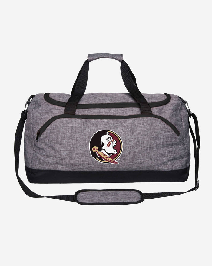 Florida State Seminoles Heather Grey Bold Color Duffle Bag FOCO - FOCO.com