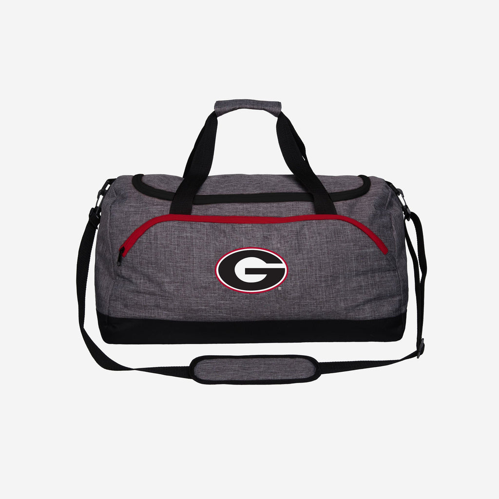 Georgia Bulldogs Heather Grey Bold Color Duffle Bag