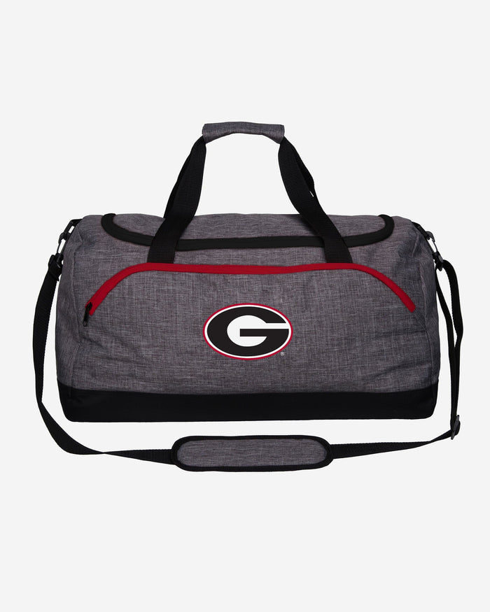 Georgia Bulldogs Heather Grey Bold Color Duffle Bag FOCO - FOCO.com