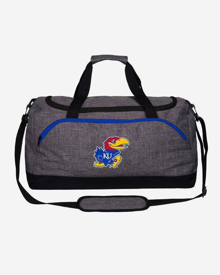 Kansas Jayhawks Heather Grey Bold Color Duffle Bag FOCO - FOCO.com