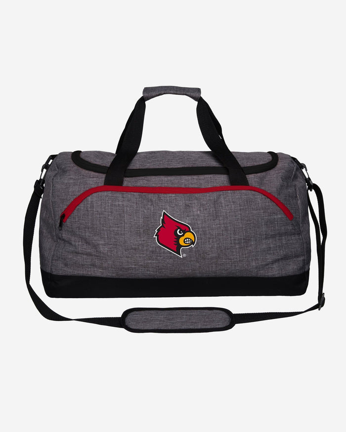 Louisville Cardinals Heather Grey Bold Color Duffle Bag FOCO - FOCO.com