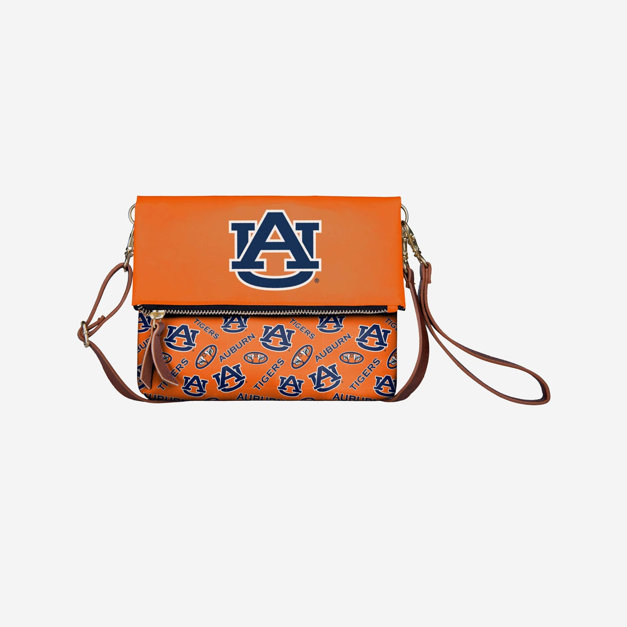 Auburn Tigers Printed Collection Foldover Tote Bag