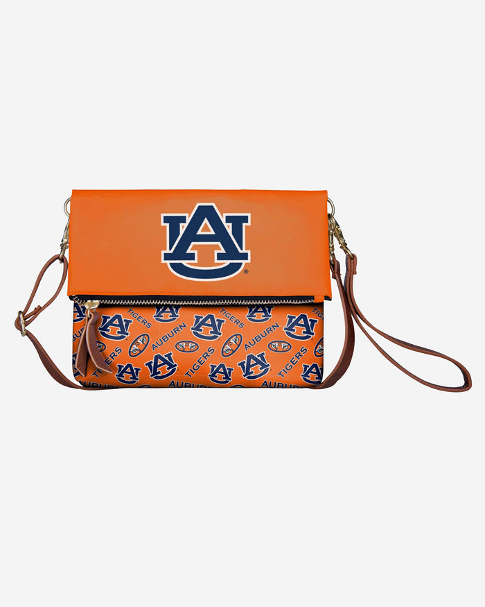 Auburn Tigers Printed Collection Foldover Tote Bag FOCO - FOCO.com