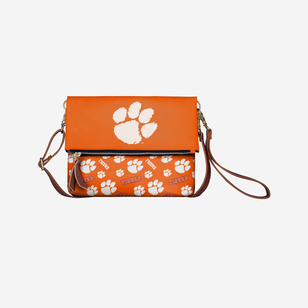 Clemson Tigers Printed Collection Foldover Tote Bag FOCO - FOCO.com
