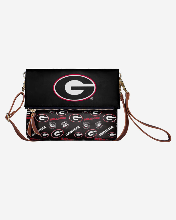 Georgia Bulldogs Printed Collection Foldover Tote Bag FOCO - FOCO.com