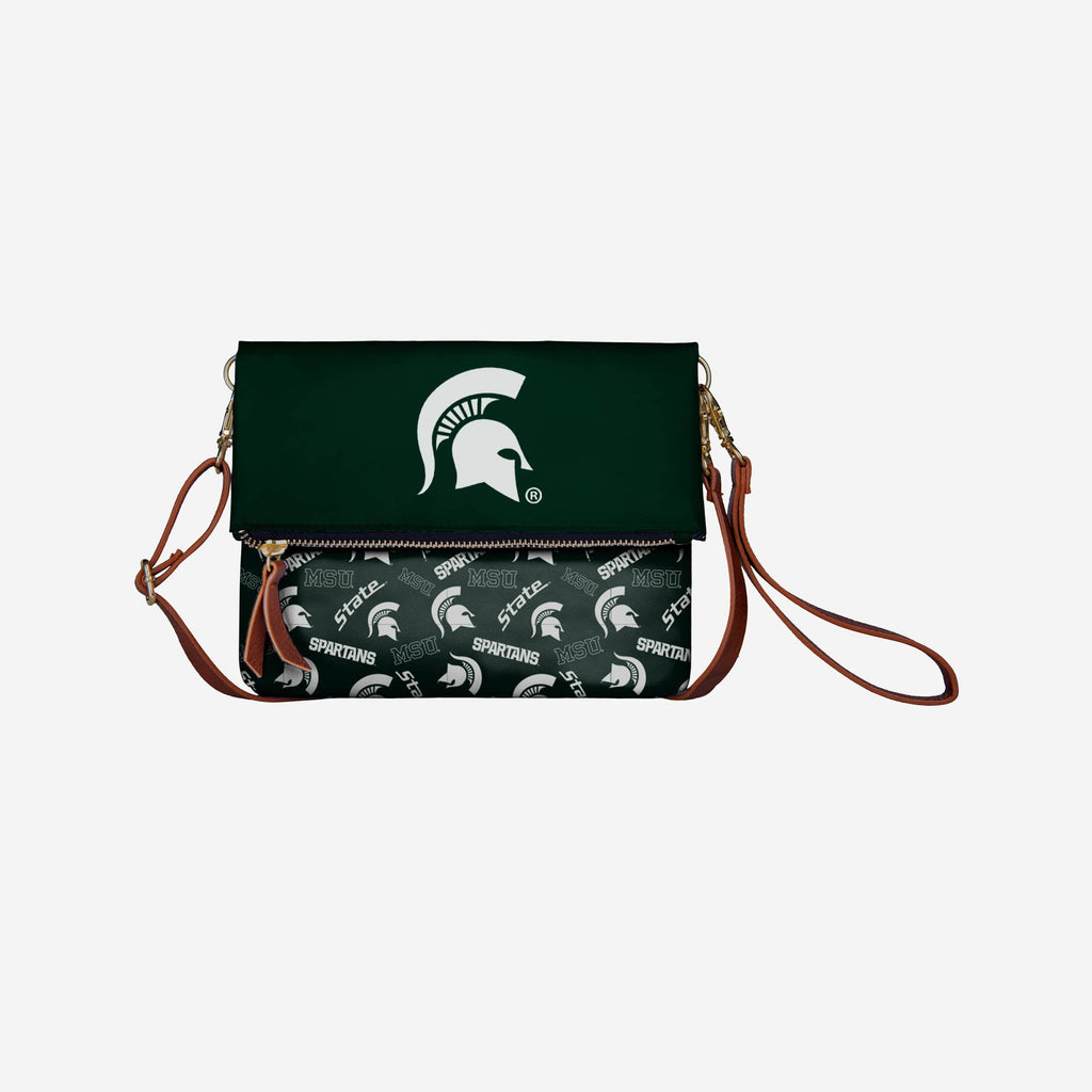 Michigan State Spartans Printed Collection Foldover Tote Bag FOCO - FOCO.com