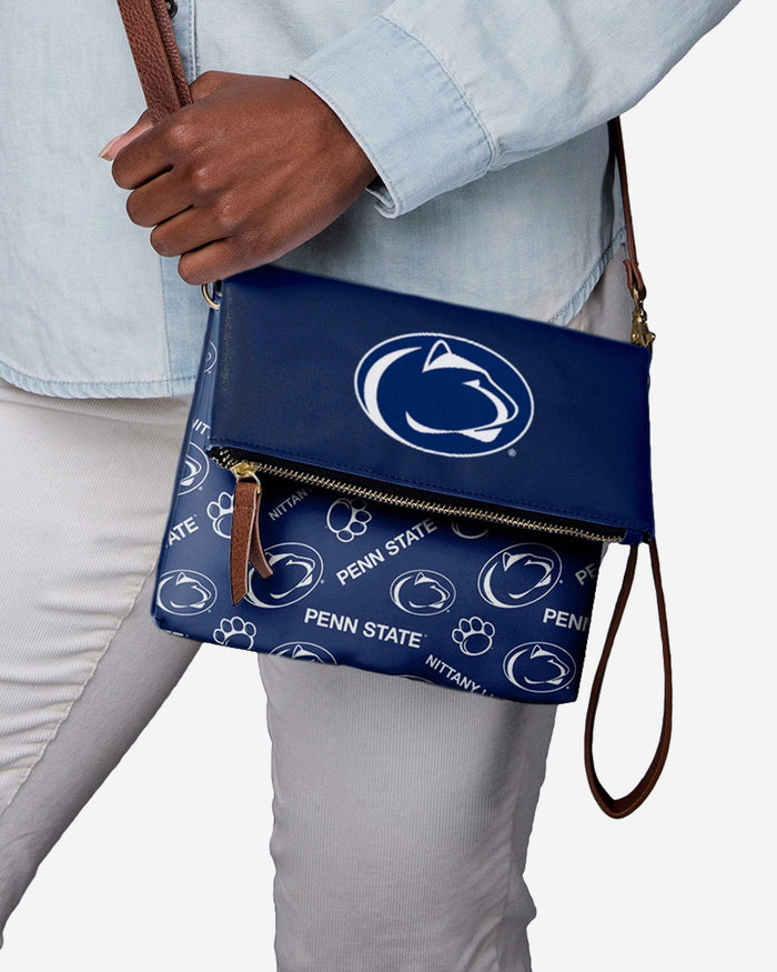 Penn State Nittany Lions Printed Collection Foldover Tote Bag FOCO - FOCO.com