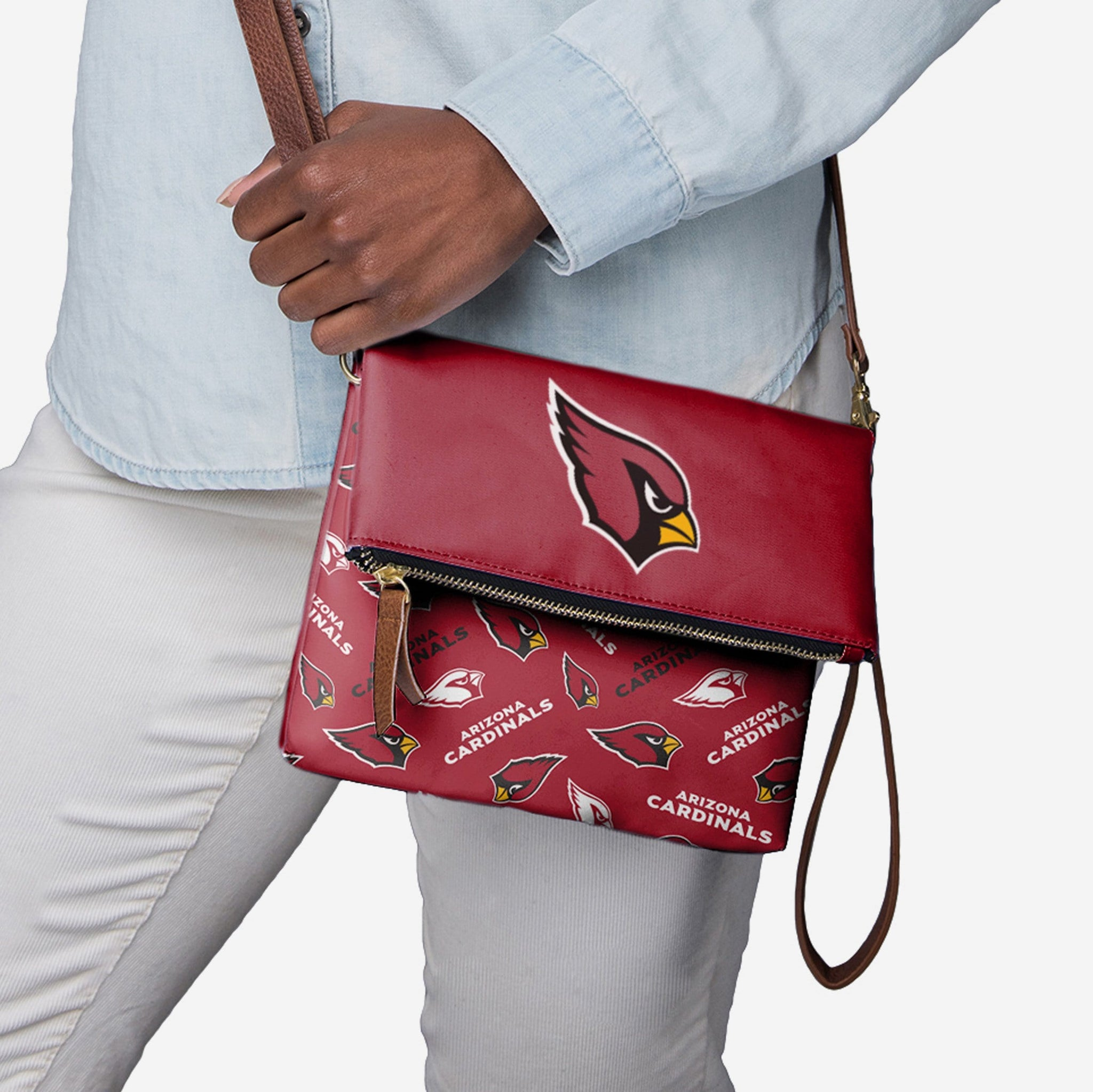 Arizona Cardinals Printed Collection Foldover Tote Bag