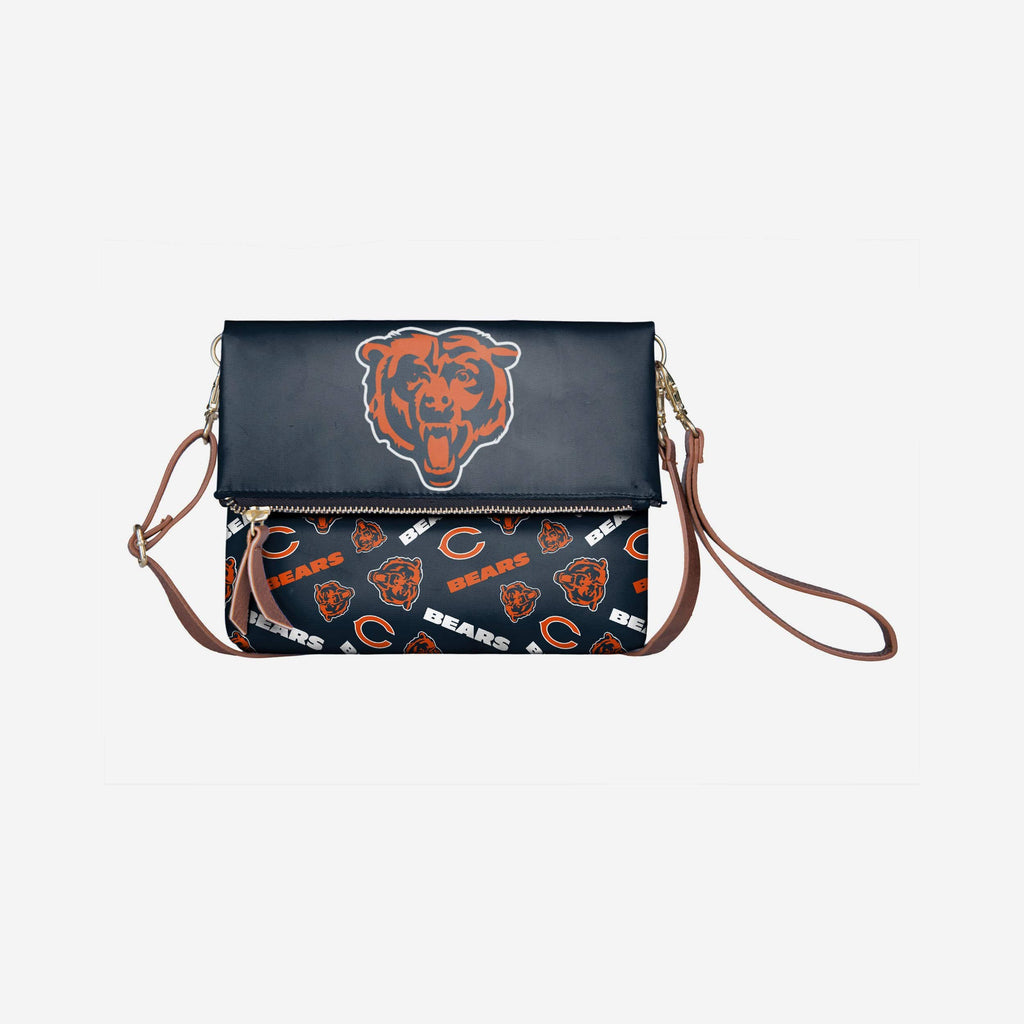 Chicago Bears Printed Collection Foldover Tote Bag