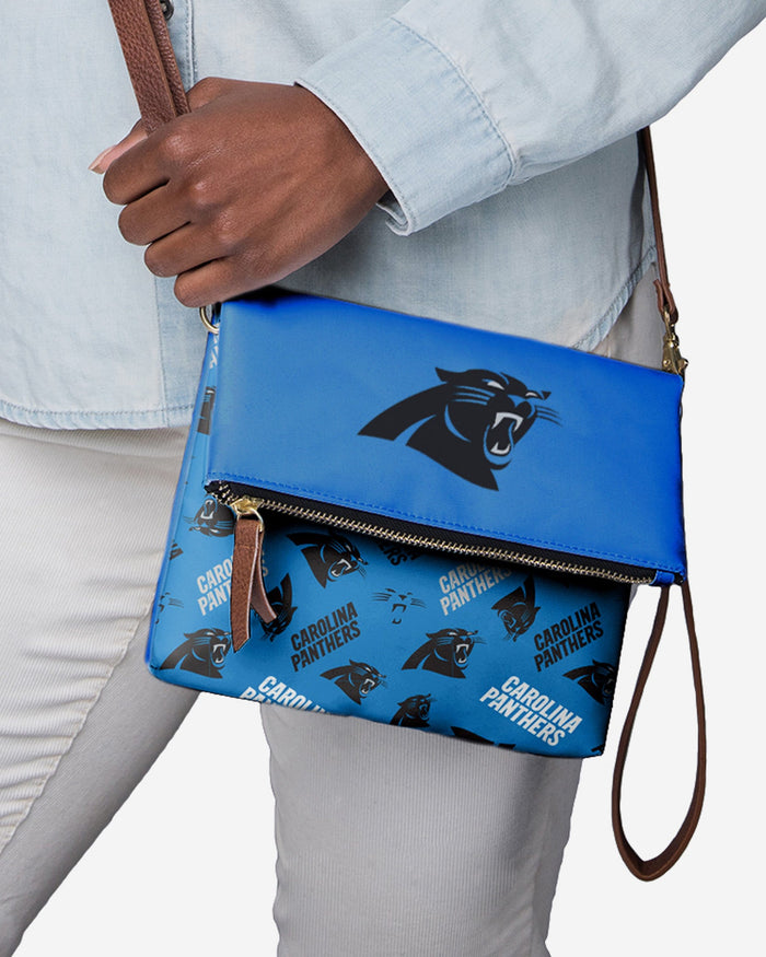 Carolina Panthers Printed Collection Foldover Tote Bag FOCO - FOCO.com