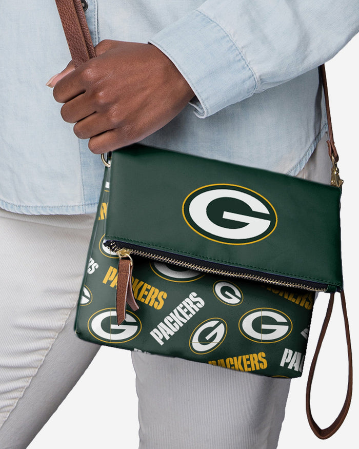 Green Bay Packers Printed Collection Foldover Tote Bag FOCO - FOCO.com