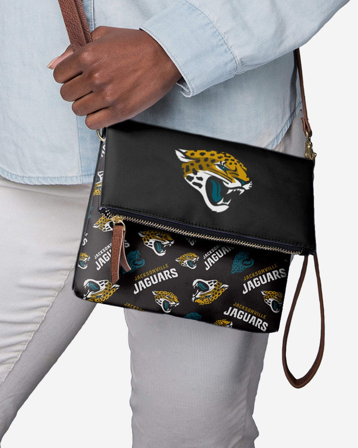 Jacksonville Jaguars Printed Collection Foldover Tote Bag FOCO - FOCO.com