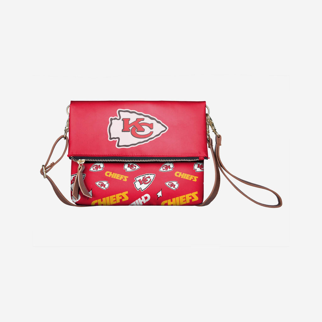 Kansas City Chiefs Printed Collection Foldover Tote Bag