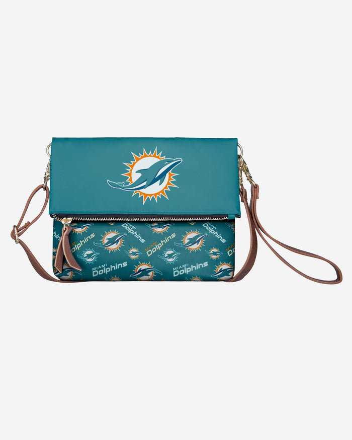 Miami Dolphins Printed Collection Foldover Tote Bag FOCO - FOCO.com