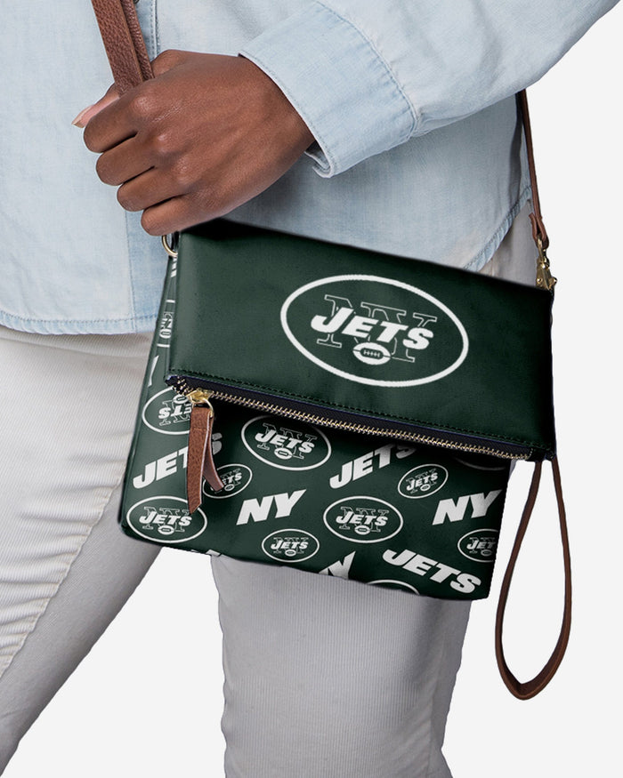 New York Jets Printed Collection Foldover Tote Bag FOCO - FOCO.com