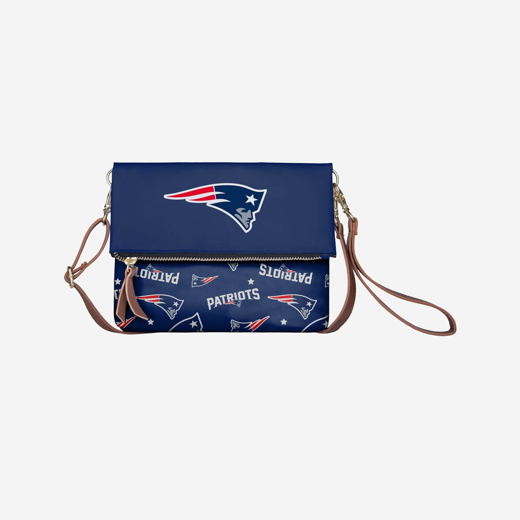 New England Patriots Printed Collection Foldover Tote Bag FOCO - FOCO.com