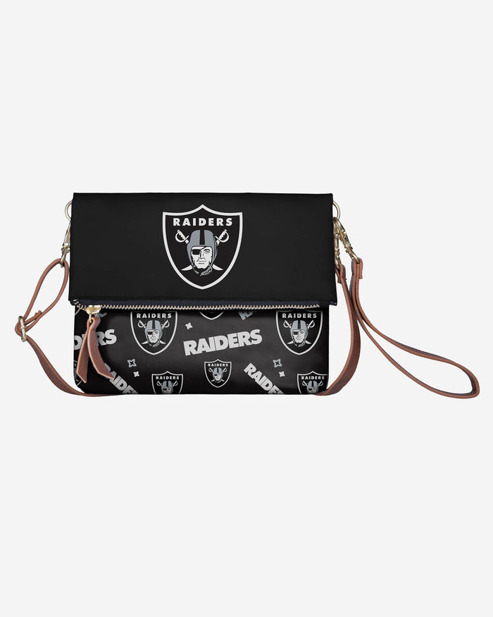 Oakland Raiders Printed Collection Foldover Tote Bag FOCO - FOCO.com