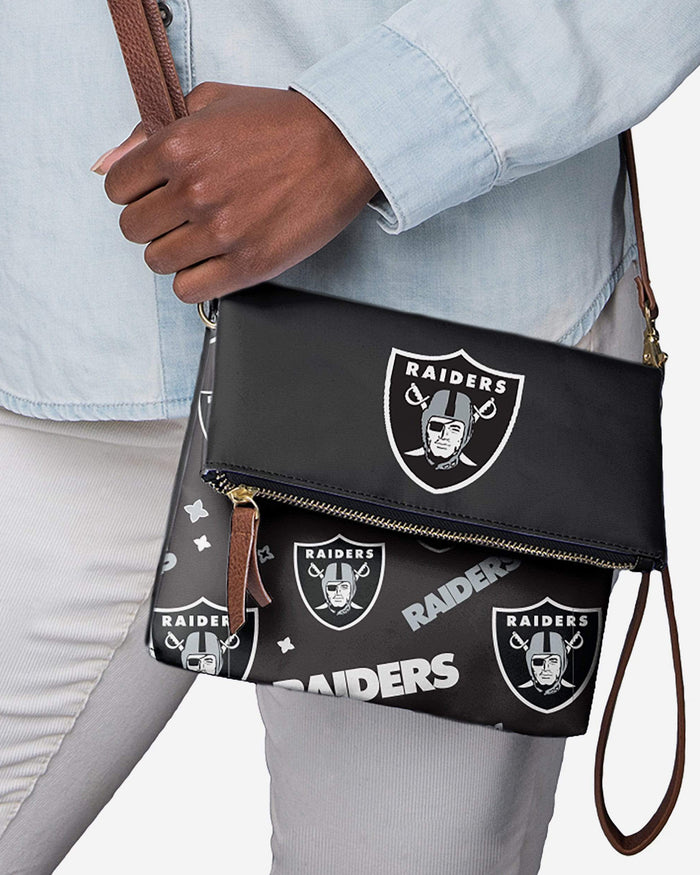 Las Vegas Raiders Printed Collection Foldover Tote Bag FOCO - FOCO.com