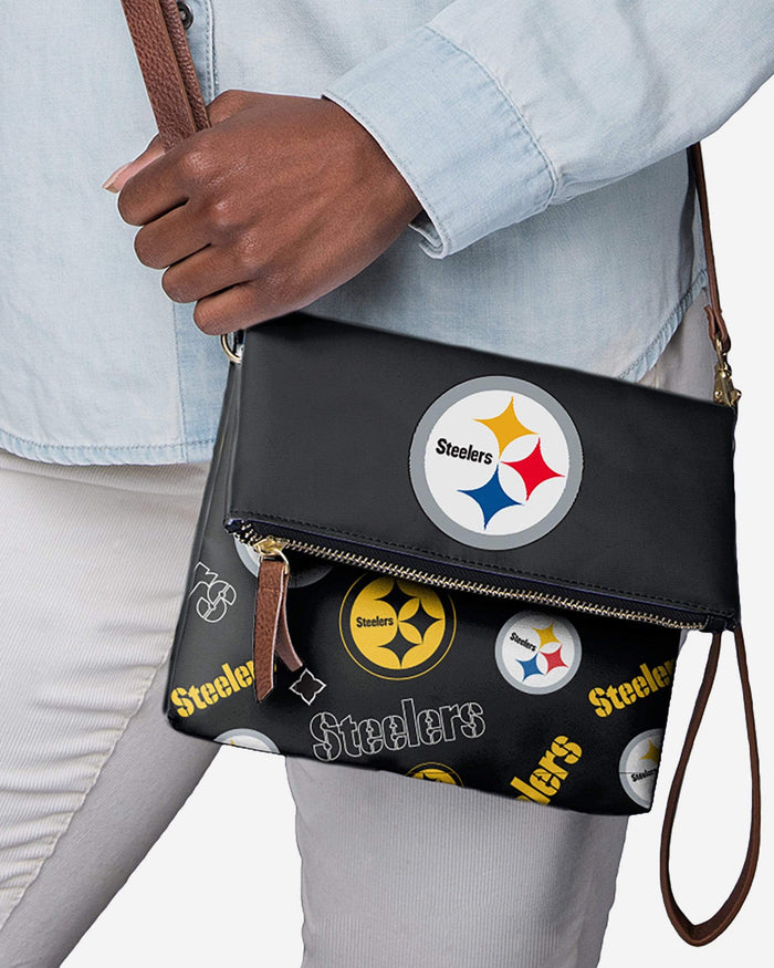 Pittsburgh Steelers Printed Collection Foldover Tote Bag FOCO - FOCO.com
