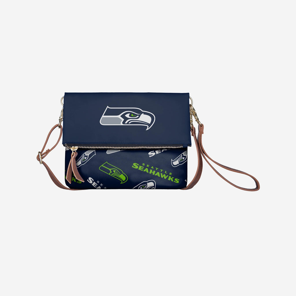 Seattle Seahawks Printed Collection Foldover Tote Bag