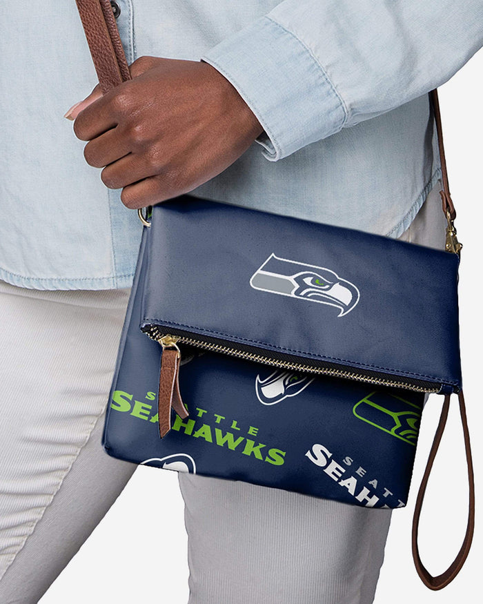 Seattle Seahawks Printed Collection Foldover Tote Bag FOCO - FOCO.com