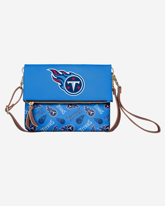 Tennessee Titans Printed Collection Foldover Tote Bag FOCO - FOCO.com