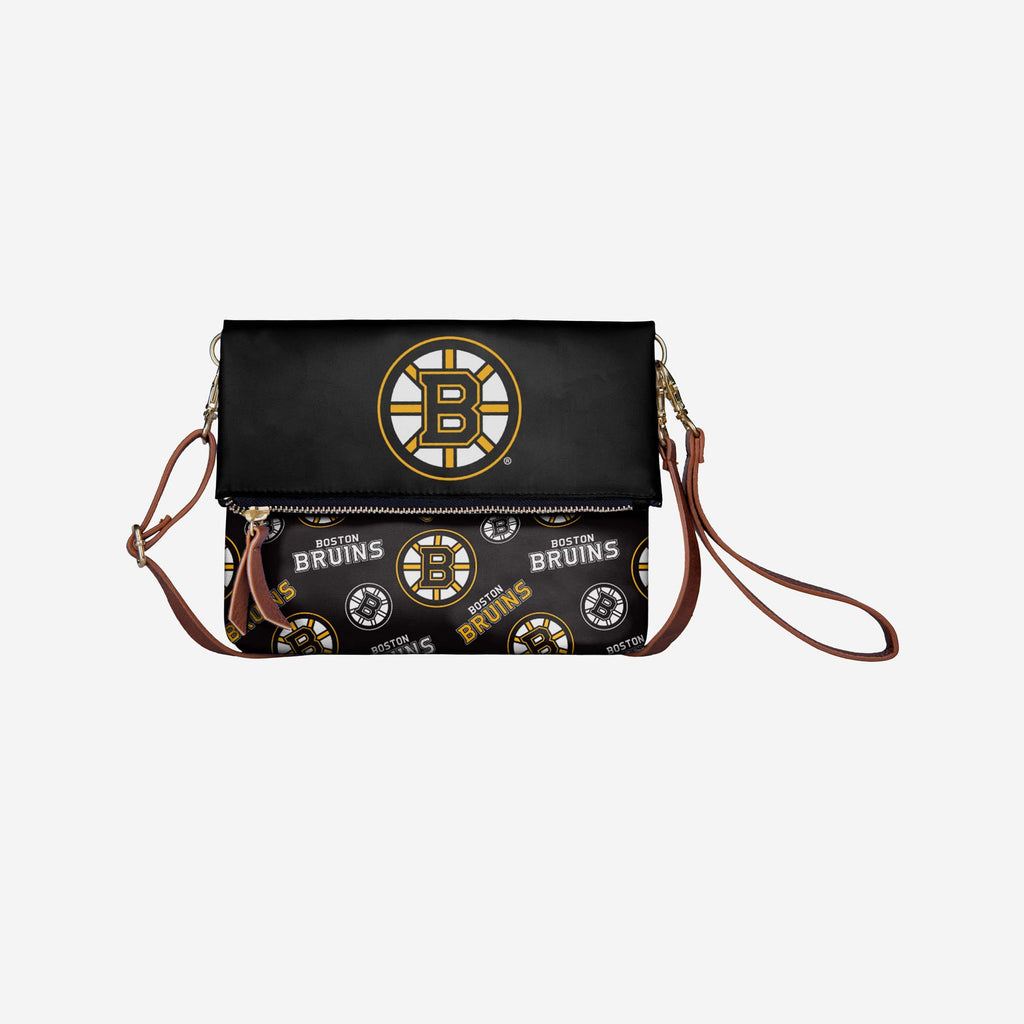 Boston Bruins Printed Collection Foldover Tote Bag