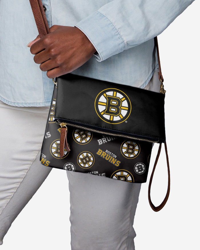Boston Bruins Printed Collection Foldover Tote Bag FOCO - FOCO.com