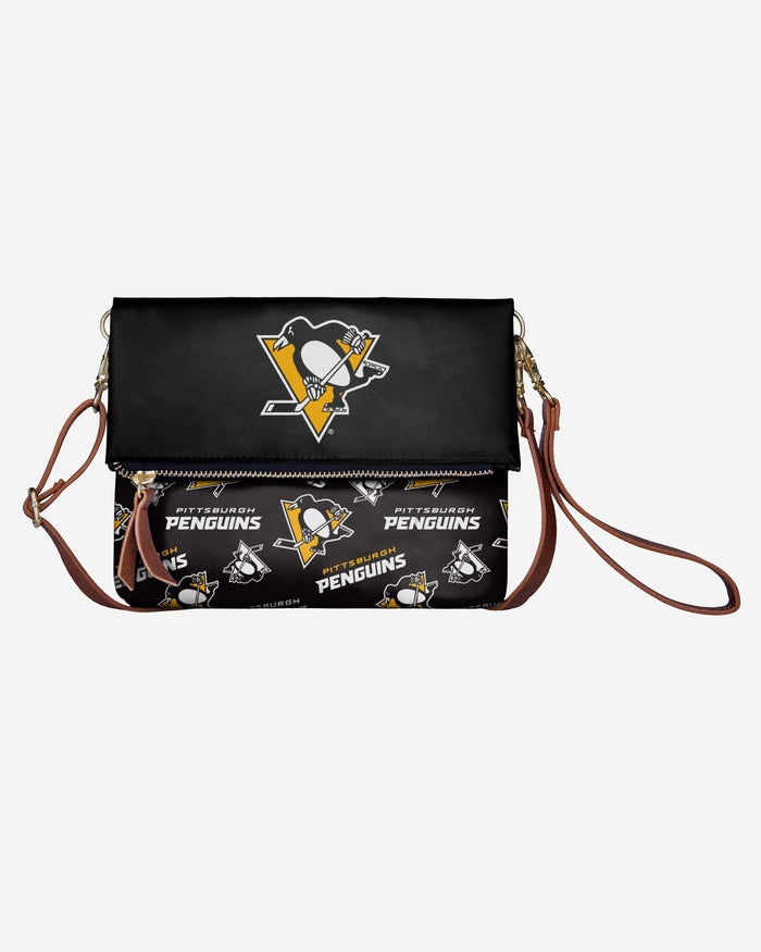 Pittsburgh Penguins Printed Collection Foldover Tote Bag FOCO - FOCO.com
