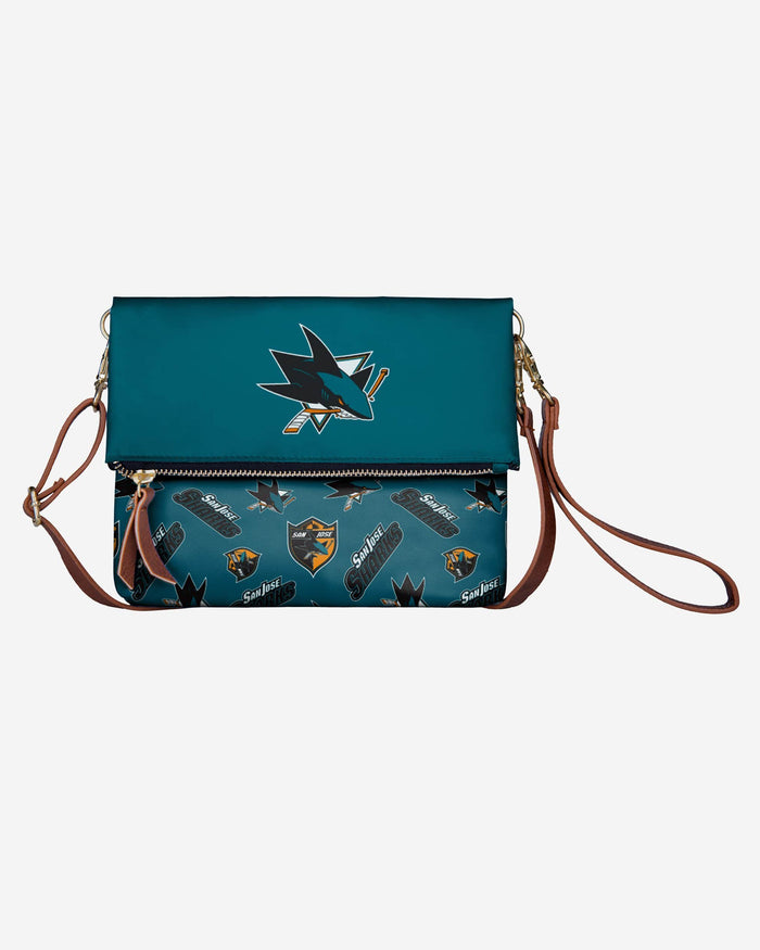 San Jose Sharks Printed Collection Foldover Tote Bag FOCO - FOCO.com