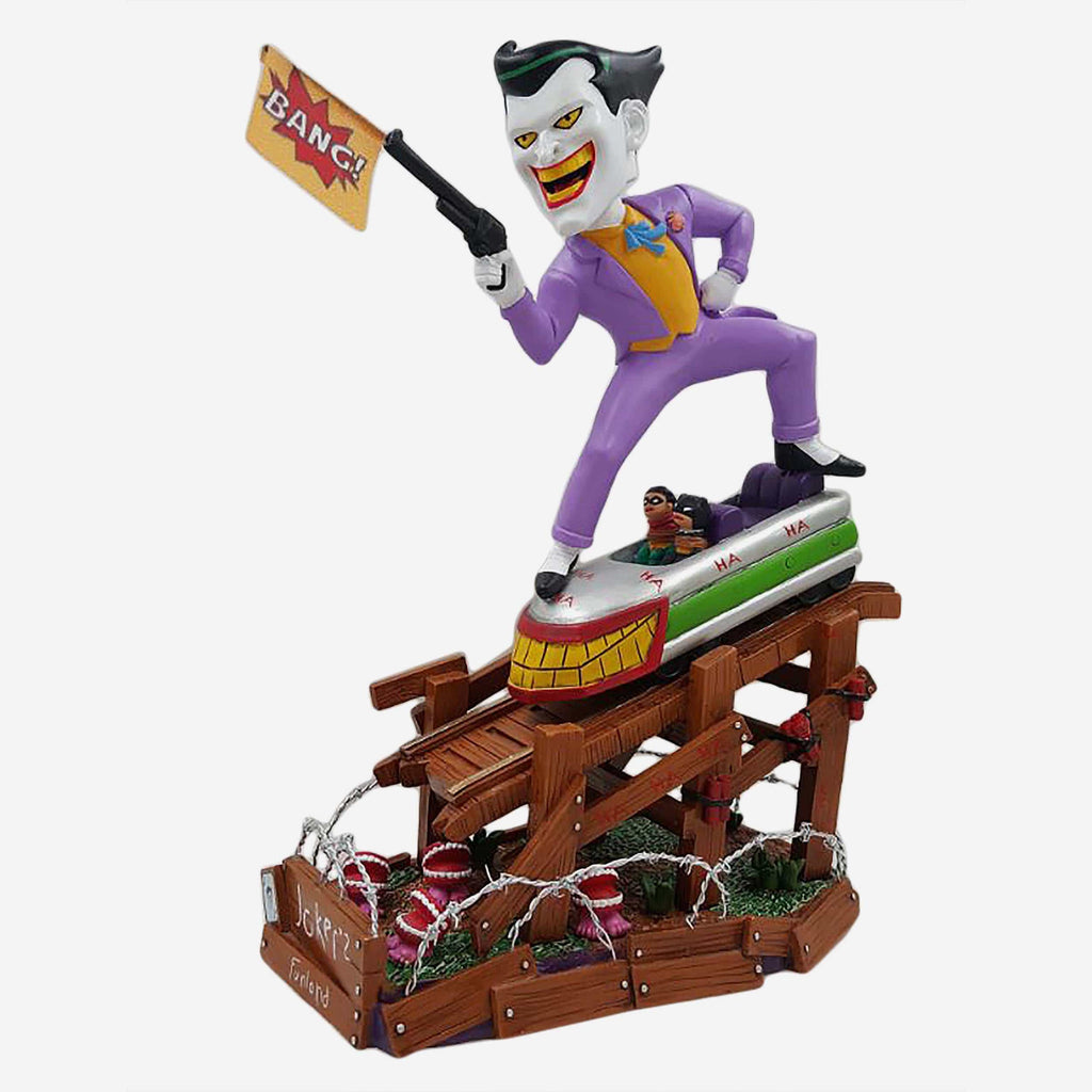 Joker Batman The Animated Series Roller Coaster Bobblehead FOCO - FOCO.com