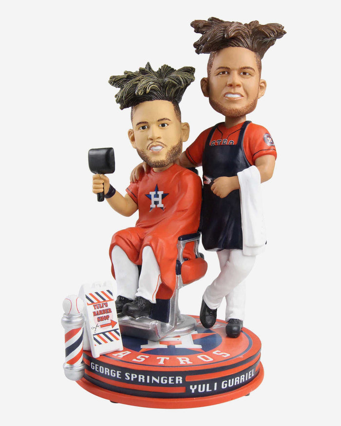 George Springer & Yuli Gurriel Houston Astros Yuli's Barber Shop Bobblehead FOCO - FOCO.com