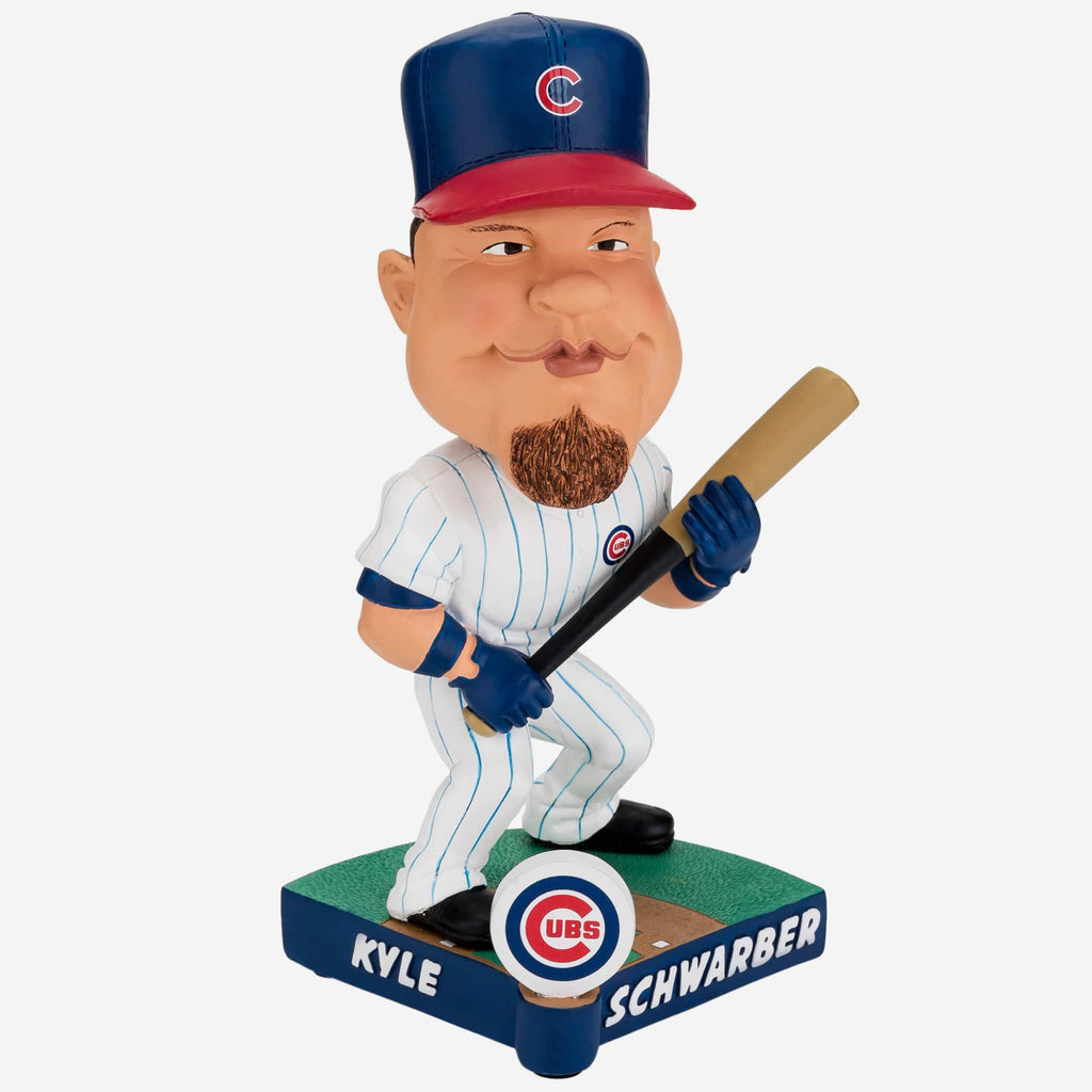 Kyle Schwarber Chicago Cubs Caricature Bobblehead FOCO - FOCO.com