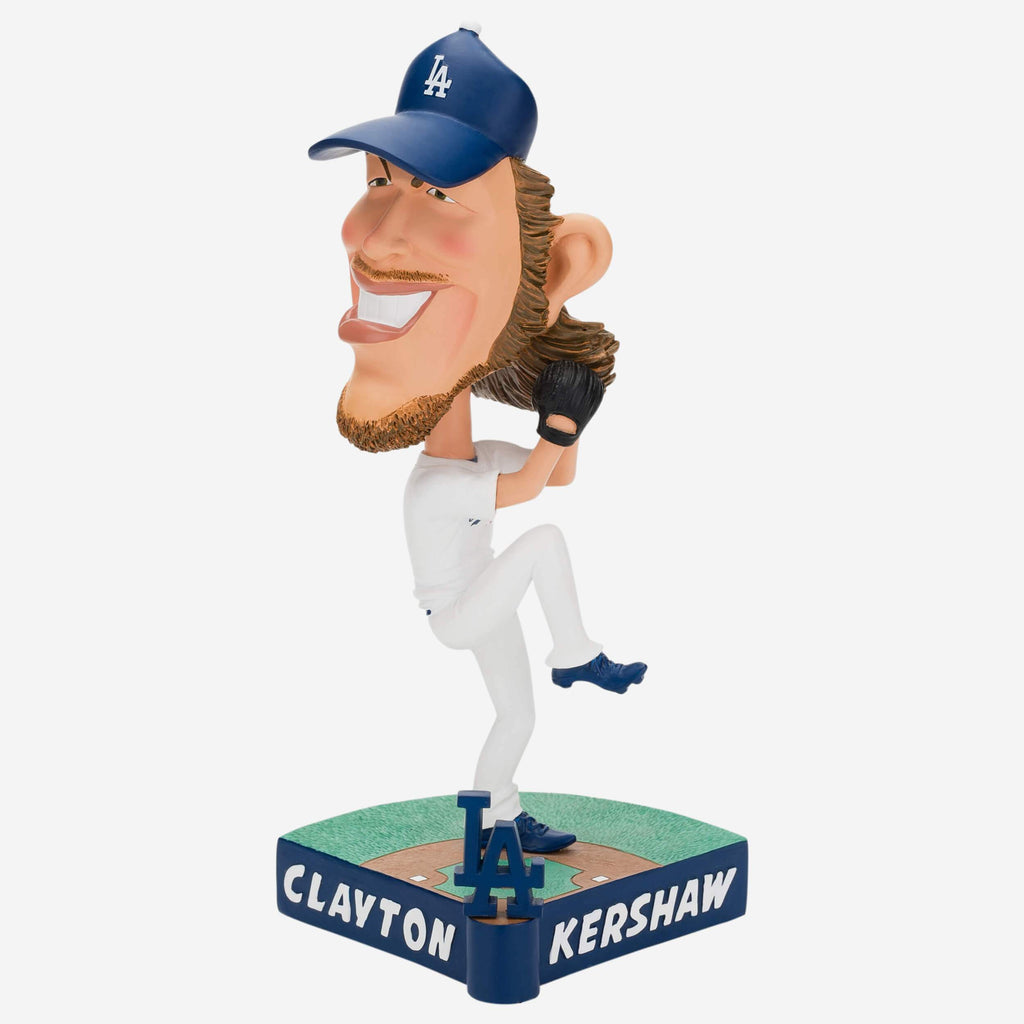 Clayton Kershaw Los Angeles Dodgers Caricature Bobblehead FOCO - FOCO.com