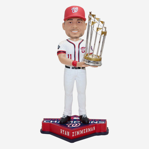 Ryan Zimmerman Washington Nationals 2019 World Series Champions Bobblehead