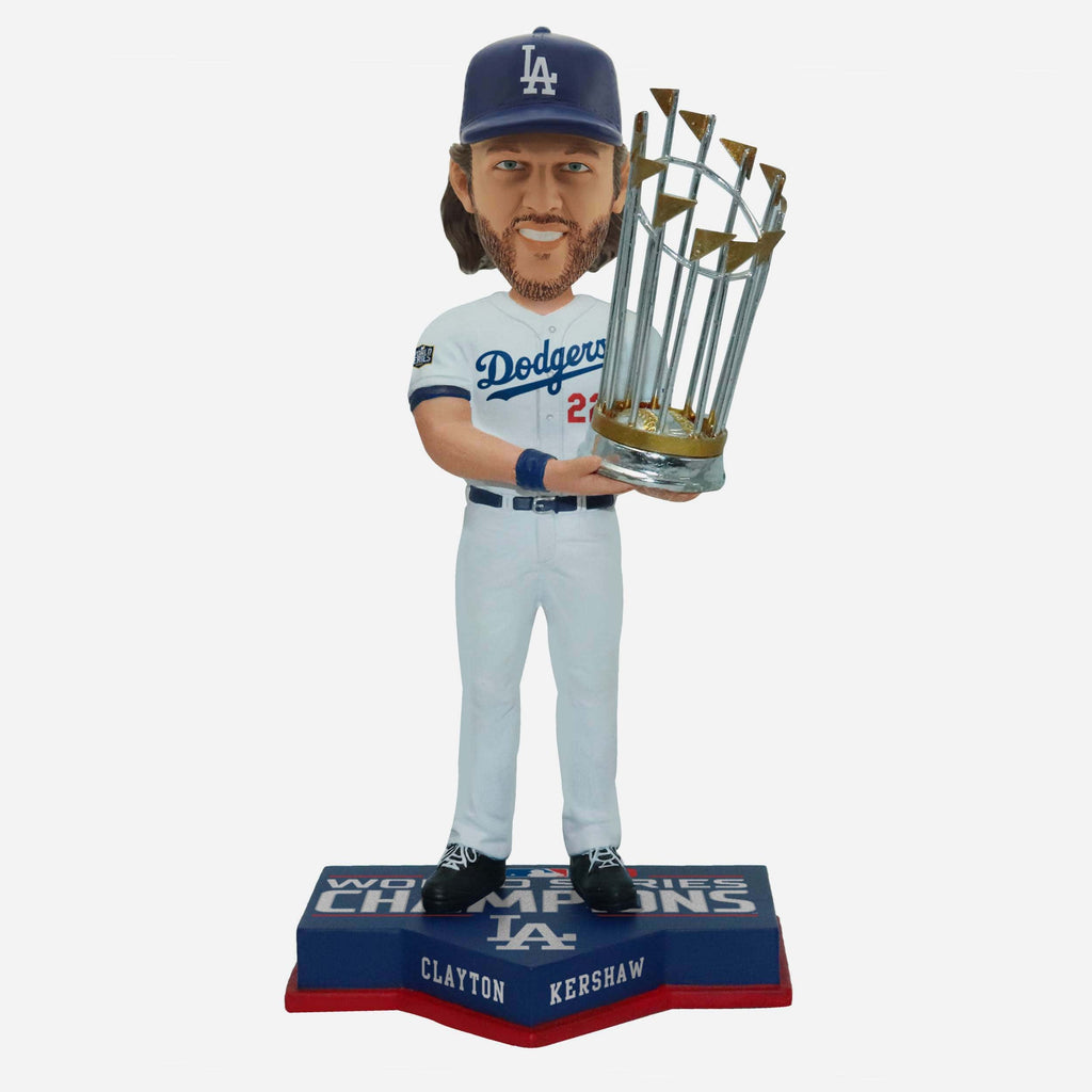 Clayton Kershaw Los Angeles Dodgers 2020 World Series Champions Bobblehead FOCO - FOCO.com