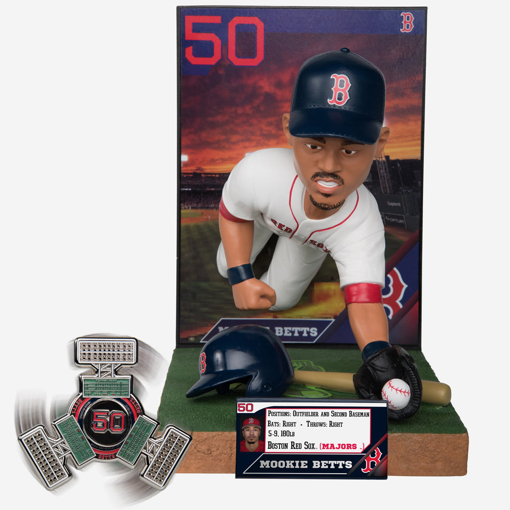 Mookie Betts Boston Red Sox Bobblehead & Diztracto Spinnerz