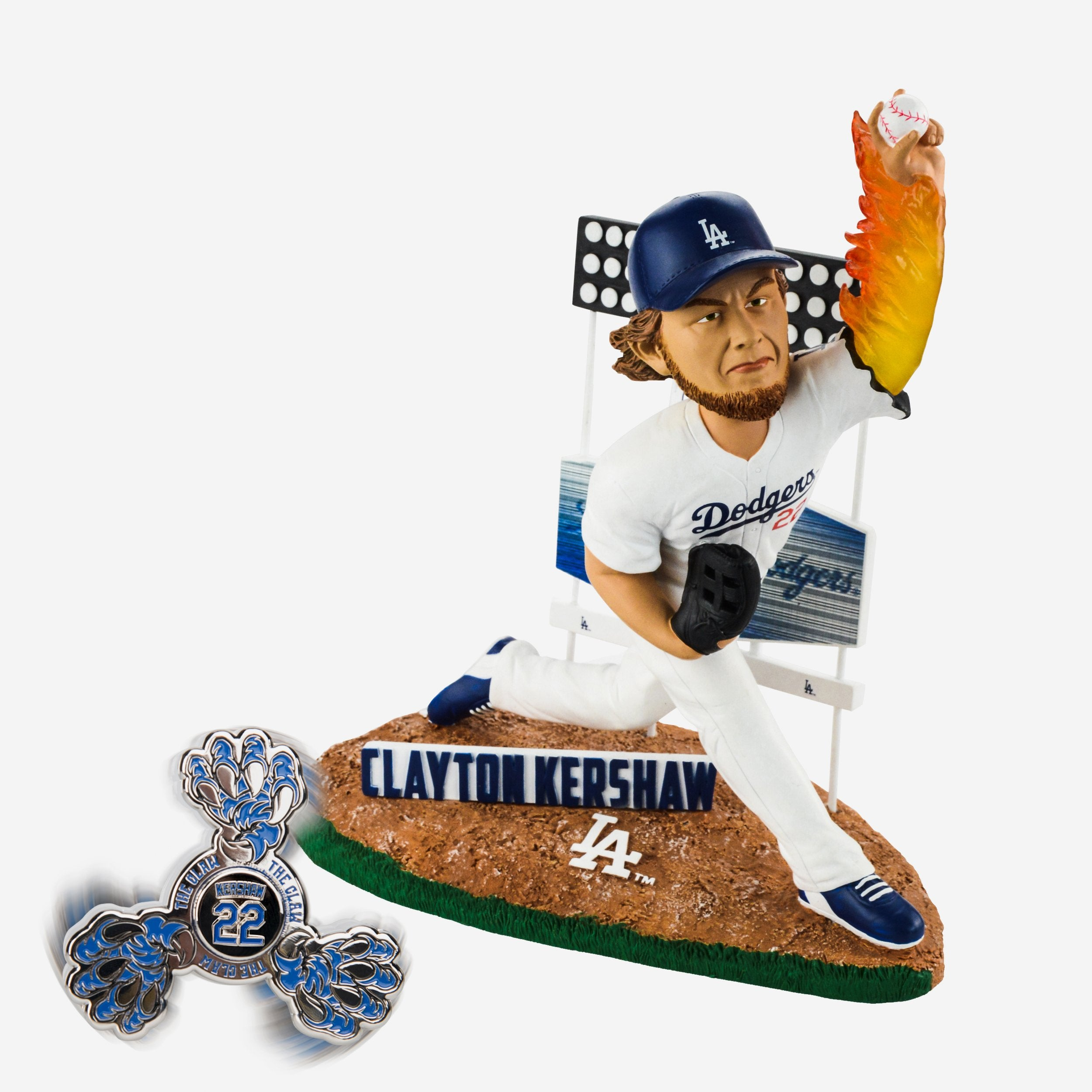 13bf41d8868 Clayton Kershaw Los Angeles Dodgers Bobblehead   Diztracto Spinnerz FOCO.com