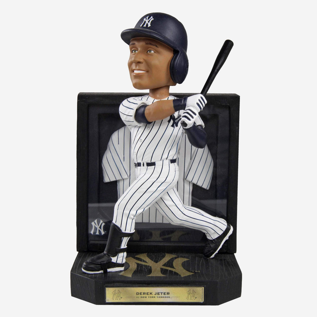 Derek Jeter New York Yankees Framed Showcase Bobblehead FOCO - FOCO.com