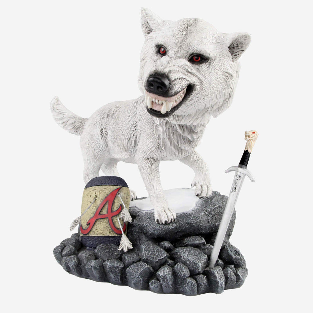 Atlanta Braves Game Of Thrones Direwolf Bobblehead FOCO - FOCO.com